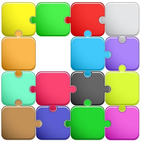 sencillez: Puzzle. Ilustración vectorial
