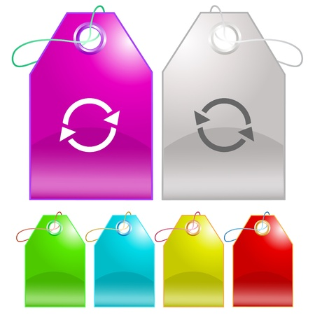 Recycle symbol. Vector tags. Stock Photo - 9168531