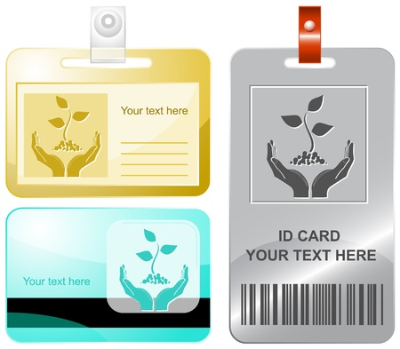 life in hands. Vector id cards. Stock Photo - 9168530