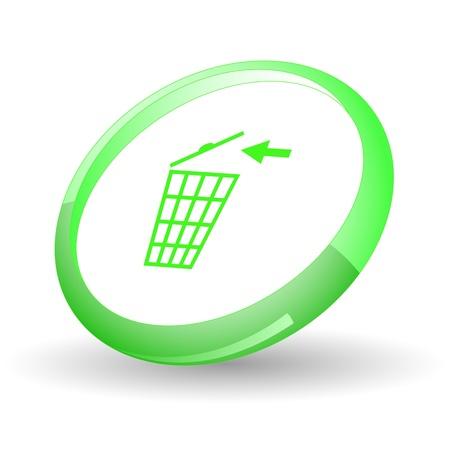 Papelera de reciclaje. Vector icono. Foto de archivo - 9211126