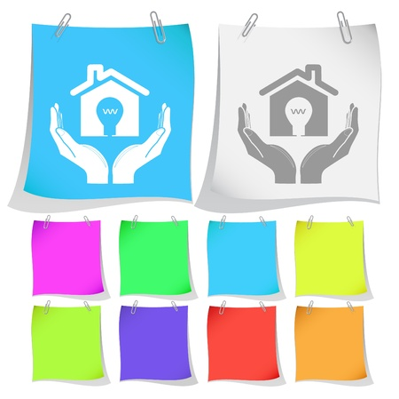 economy in hands. Vector note papers. Stock Photo - 9211128
