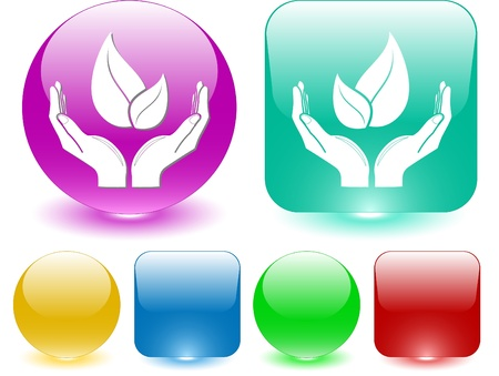 life in hands. Vector interface element. Stock Photo - 9211141