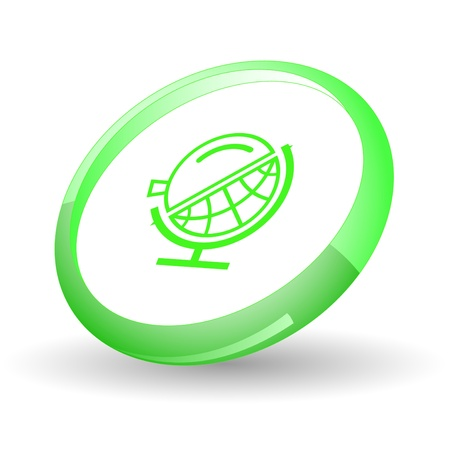 Globe and loupe. Vector icon. Stock Photo - 9211139