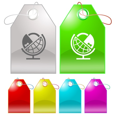 Globe and lock. Vector tags. Stock Photo - 9271556