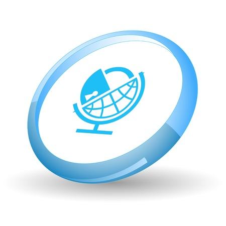 Globe and lock. Vector icon. Stock Photo - 9271554