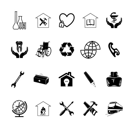 Vector set of icons Stock Photo - 9271577