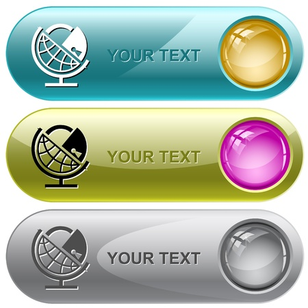 Globe and lock. Vector internet buttons. Stock Photo - 9271604