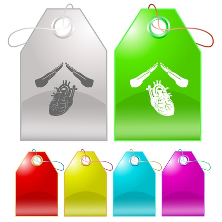 Heart protect. Vector tags. Stock Photo - 9528056
