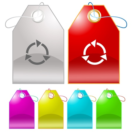 Recycle symbol tags. Stock Photo - 9603459