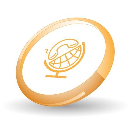 Globe and handset Stock Photo - 9603453