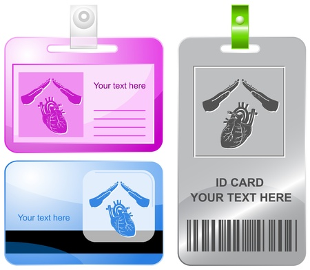 Heart protect id cards. Stock Photo - 9603516