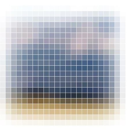 Abstract vector mosaic photo