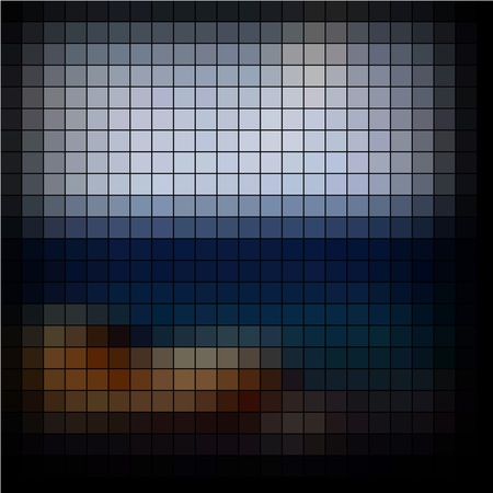 Mosaic background. Abstract vector illustration. Stock Illustration - 10385948