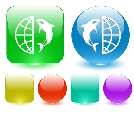 terrestrial mammal: Globe interface element.