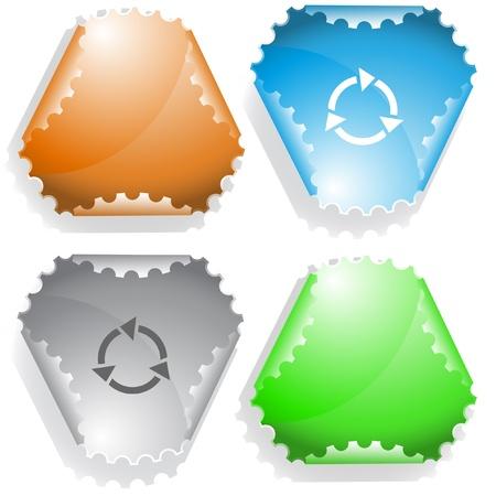 hamose: Recycle symbol. Vector sticker.