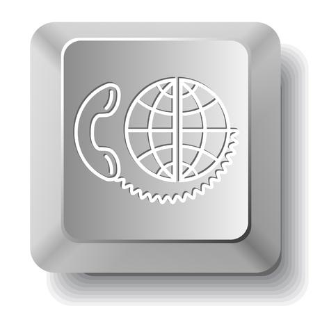 Global communication computer key. Stock Photo - 10412910