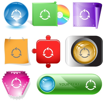Recycle symbol. internet buttons. Stock Photo - 10412930