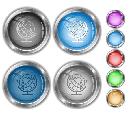 handset: Globe and handset. internet buttons.