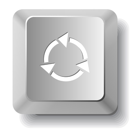 Recycle symbol. computer key. photo