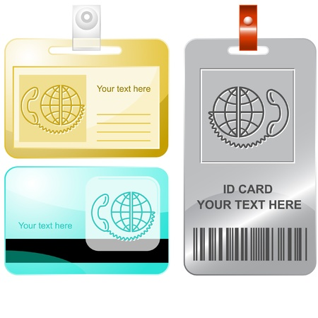 Global communication. Vector id cards. Stock Photo - 10430681