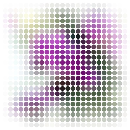square sheet: Dots abstract vector background