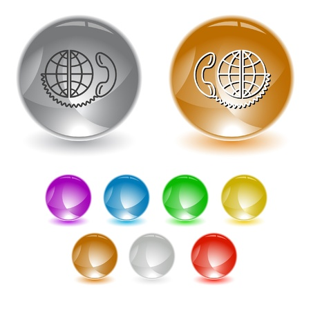 Global communication. Vector interface element. Stock Photo - 10430692