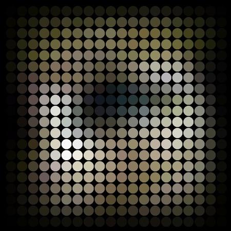 Abstract mosaic photo