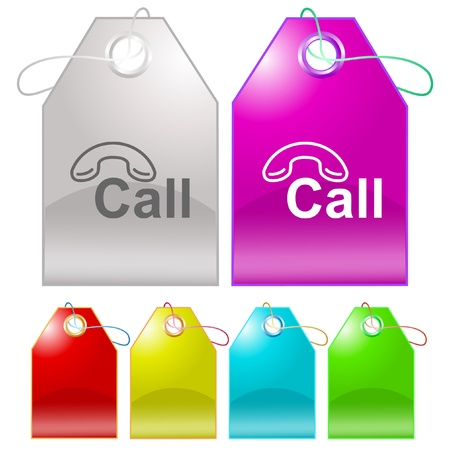 Hotline tags. Stock Photo - 10459436