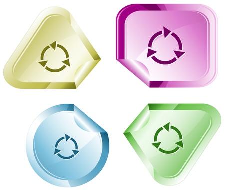 declinate: Recycle symbol sticker.