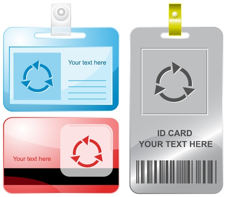 Recycle symbol. id cards. Stock Photo - 10601035