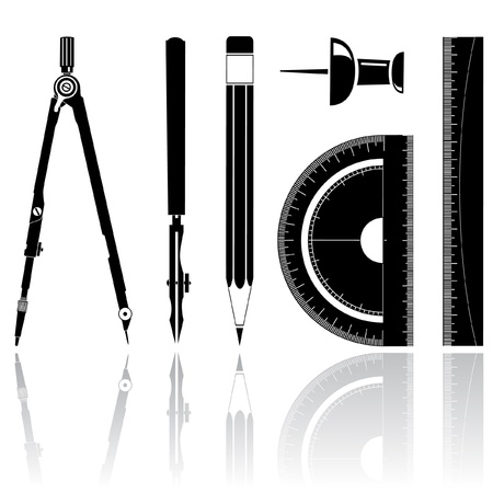 Icons of drawing instrument photo