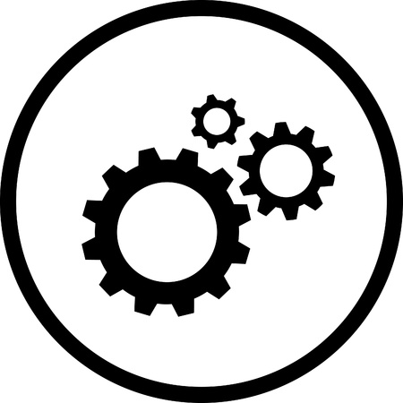 Icon of gears. All layers are grouped. photo