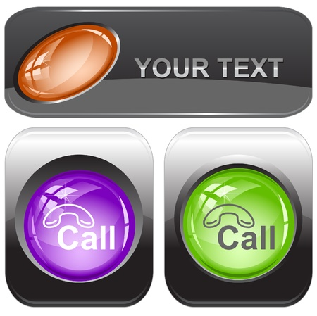 Hotline. Internet buttons. photo