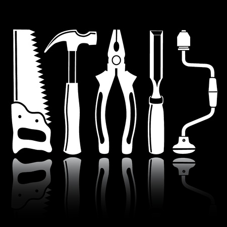 vector icons of joiners tools photo