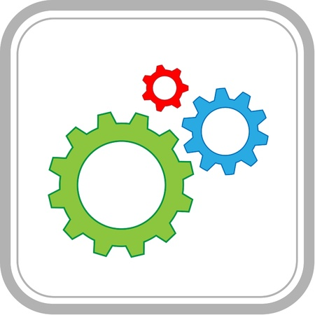 Vector icon of gears photo