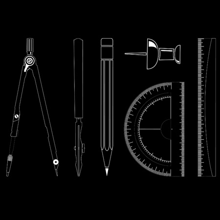 drawing instrument: vector icons of drawing instrument