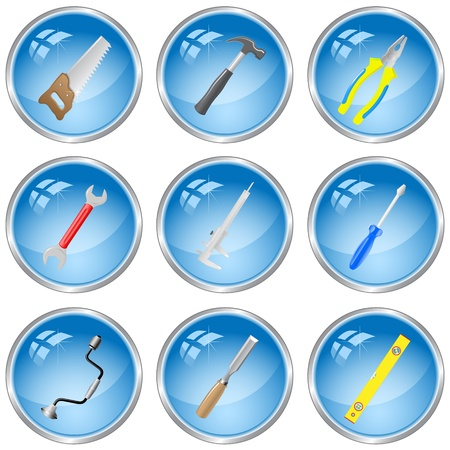 vector icons of tools. All layers are grouped. photo