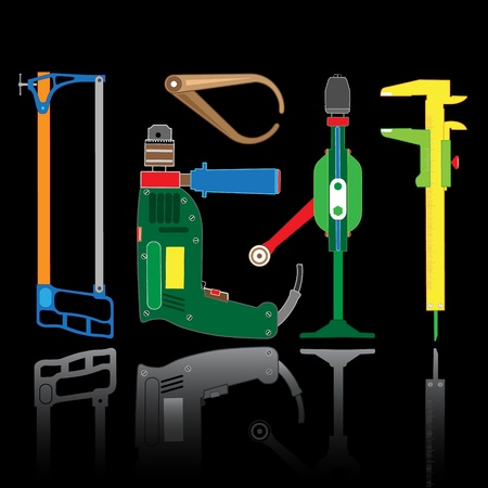 vector icon of fitters tool photo