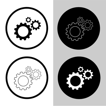 Vector icons of gears photo