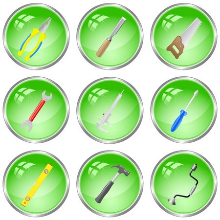 vector icons of tools photo