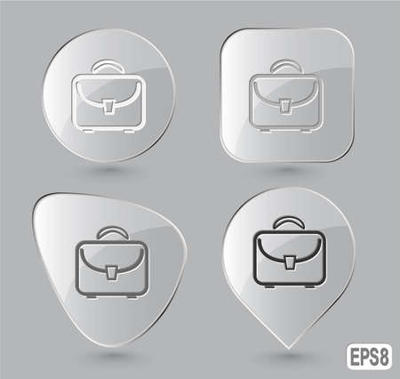 Briefcase. Glass buttons. Vector illustration. Stock Illustration - 12920311