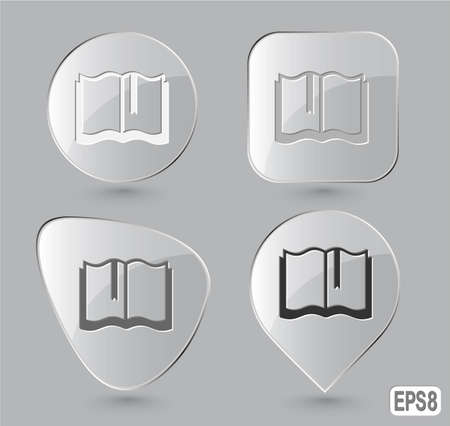 Book. Glass buttons. Vector illustration. Stock Illustration - 12920309