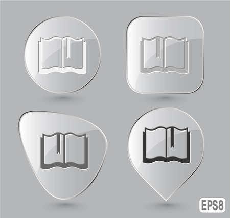 Book. Glass buttons. Vector illustration. Stock Illustration - 12920309