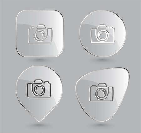 Camera. Glass buttons. Vector illustration. illustration