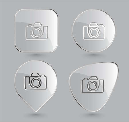 Camera. Glass buttons. Vector illustration. Stock Illustration - 12920312