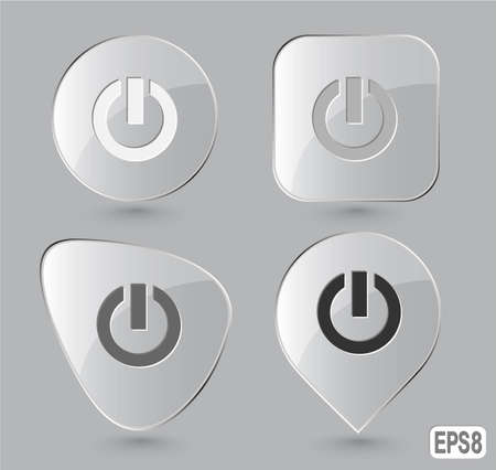 Switch element. Glass buttons. Vector illustration. illustration