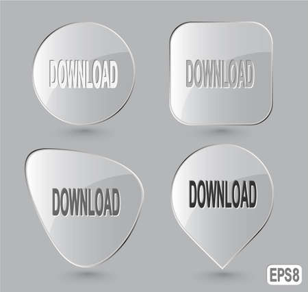 Download. Glass buttons. Vector illustration. Stock Illustration - 12920364