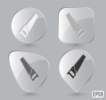 Hand saw. Glass buttons. Vector illustration. Stock Illustration - 12920504