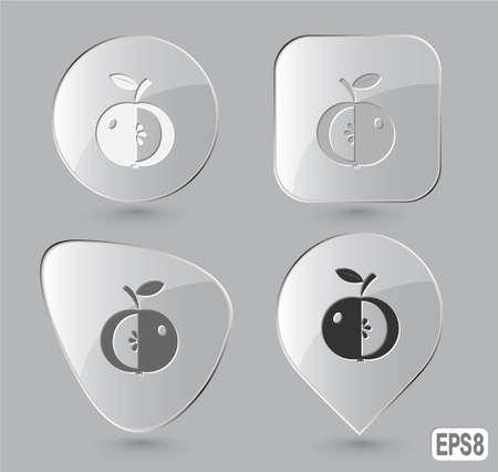 Apple. Glass buttons. Vector illustration. Stock Illustration - 12920503