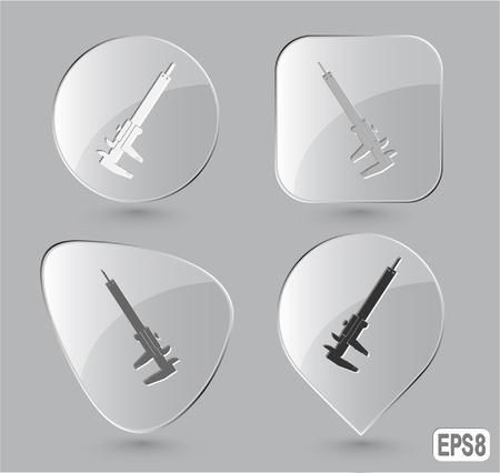 Caliper. Glass buttons. photo
